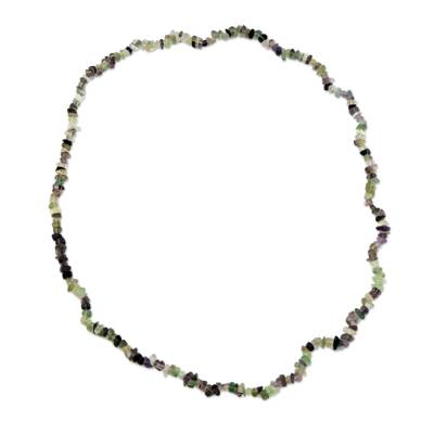 Artisan Crafted Brazilian Fluorite Beaded Necklace