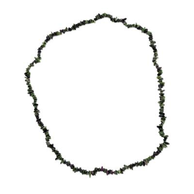 Handcrafted Zoisite Beaded Necklace