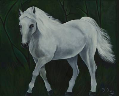 Original Signed Horse Painting from Brazil
