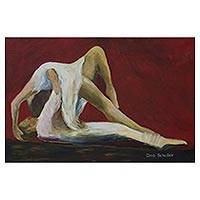 'Stephanie' - Original Brazilian Ballet Dancer Painting Acrylic on Canvas