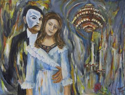 'The Phantom of the Opera' - Original Film Inspired Expressionistic Painting from Brazil