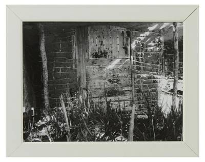 'Driftwood House' - Original Framed Black and White Brazilian Photograph