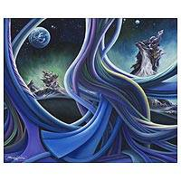'The Universe and Its Secrets' - Original Signed Surreal Seascape in Oils on Canvas