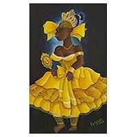'Oxum' - Painting of Oxum Candomble Deity Signed Brazilian Fine Arts