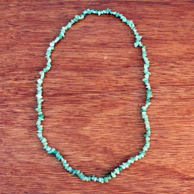 Novica Recycled glass beaded necklace, Meadow Queen