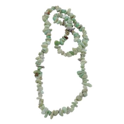 Brazil Artisan Crafted 34-Inch Beaded Chrysoprase Necklace