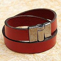 Leather wrap bracelet,