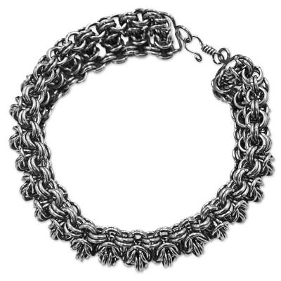 Stainless Steel Chain Link Bracelet from Brazil