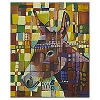 'Little Burro' - Original Signed Painting of a Baby Burro