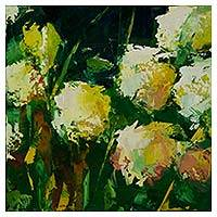 'Spring II' - Signed Floral Painting of Brazilian Spring Impressionism