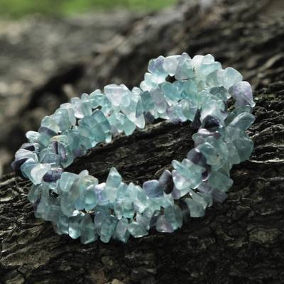 Fluorite beaded bracelets, 'Icy Cave' (set of 3) - Fluorite Beaded Bracelets (Set of 3) from Brazil