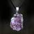 Amethyst long pendant necklace, 'Purple Light Rays' - Silver Plated Amethyst Pendant Necklace from Brazil thumbail