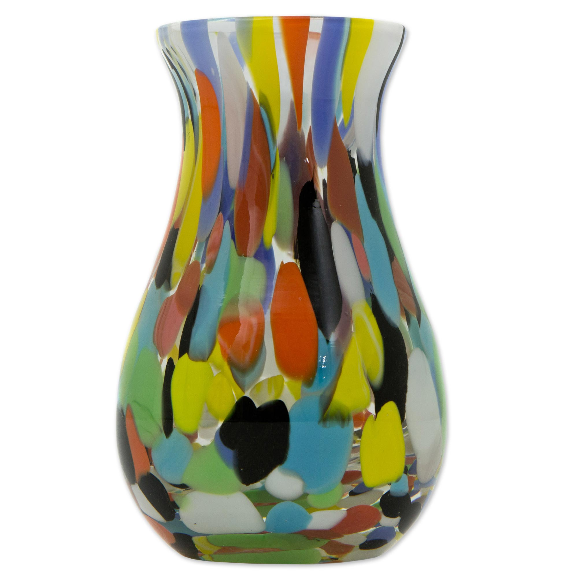 Hand blown multi colored murano inspired art glass vase hand blown multi colored murano inspired art glass vase impressionist spring novica reviewsmspy