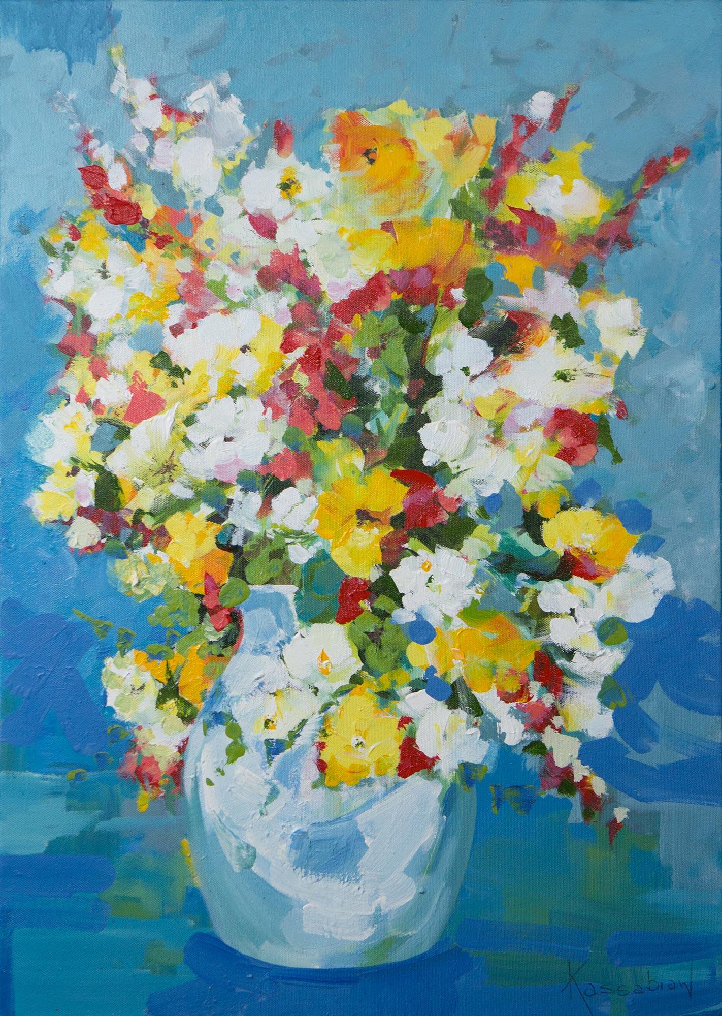 Still Life Painting of a Colorful Flower Vase from Brazil \ Vase of Country Flowers\   sc 1 st  Novica & Still Life Painting of a Colorful Flower Vase from Brazil - Vase of ...