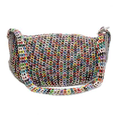 Multicolor Recycled Aluminum Shoulder Bag from Brazil