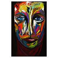 'Psychedelia' (2016) - Brazil Multicolor Expressionist Signed Original Portrait