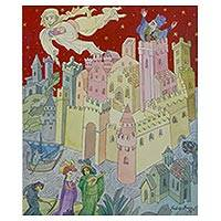 'Melusina the Fugitive' (2000) - Signed Expressionist Cityscape Illustration from Brazil