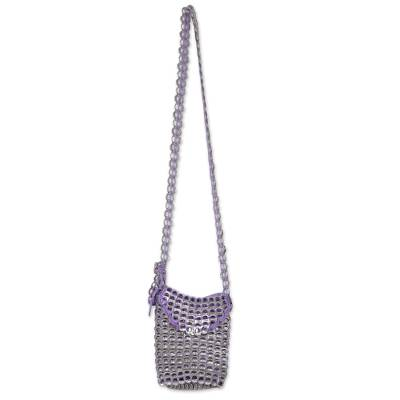 Recycled Aluminum Soda Pop-Top Sling in Violet from Brazil
