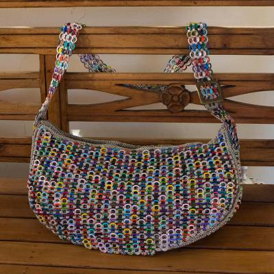 Soda pop-top hobo bag, Colorful Wishes