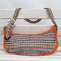 Soda pop-top hobo bag, 'Wishful Colors' - Upcycled Colorful Soda Pop-Top Hobo Bag from Brazil