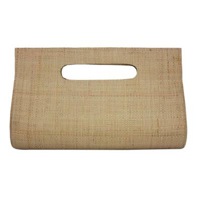 Handwoven Palm Leaf Handle Handbag from Brazil