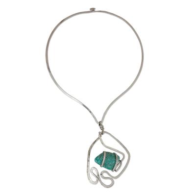 Amazonite Pendant Collar Necklace from Brazil