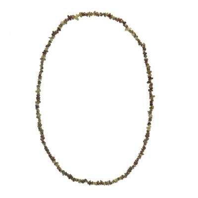 Natural Garnet Long Beaded Necklace from Brazil