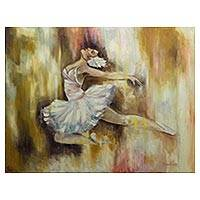'The Dance' - Original Signed Brazilian Fine Art Dance Theme Painting