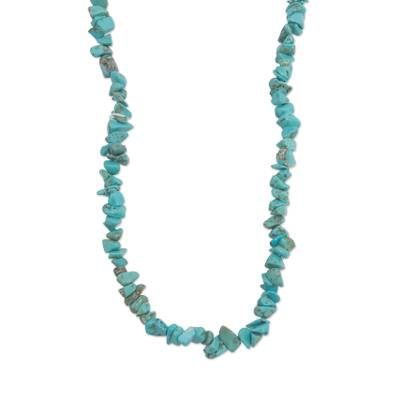 Handmade Brazilian Turquoise Beaded Strand Necklace