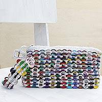 Soda pop-top wristlet, 'Fashionable Colors' - Multicolored Aluminum Soda Pop-Top Wristlet from Brazil