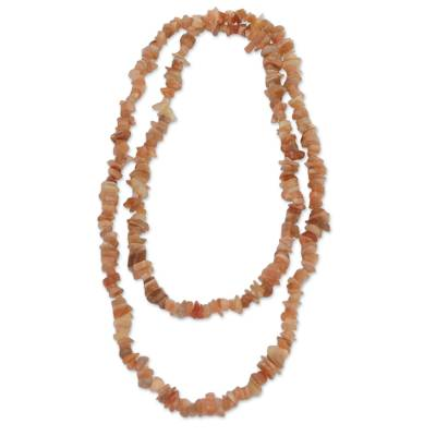 Natural Moonstone Beaded Necklace from Brazil