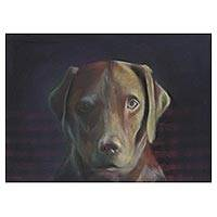 'Apollo' - Pastel Pencil on Paper Painting of Dog from Brazil