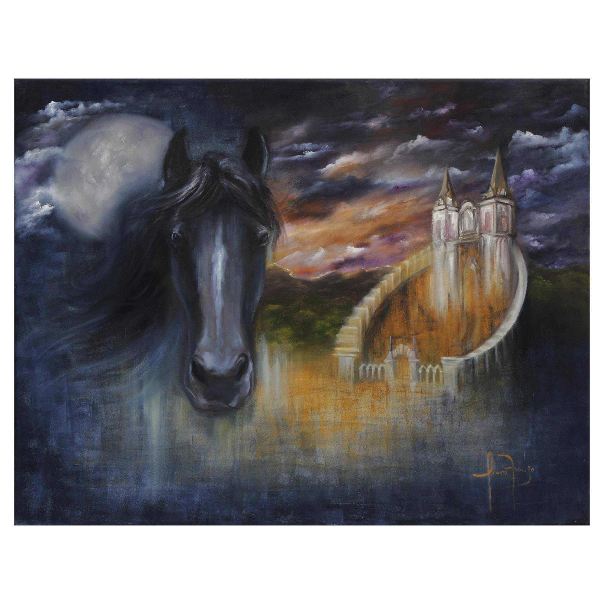 Unicef Market Signed Surrealist Painting Of A Horse From Brazil Magic Of The Forest