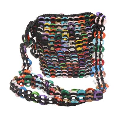 Novica Soda pop-top sling, Copper and Gold Chainmail