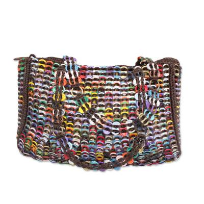 Recycled Multicolor Aluminum Soda Pop-Top Shoulder Bag