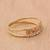 Gold band ring, 'Tricolor Constellation' - Tricolor Diamond Motif Gold Band Ring from Brazil (image 2b) thumbail