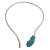 Howlite collar necklace, 'Afternoon Sky's Magnitude' - Blue Howlite and Stainless Steel Collar Necklace (image 2a) thumbail