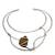 Tiger's eye collar necklace, 'Queen's Eye' - Tiger's Eye and Stainless Steel Collar Necklace (image 2a) thumbail