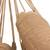 Cotton hammock, 'Romantic Couple' (double) - Handwoven Double Cotton Hammock in Tan from Brazil (image 2b) thumbail