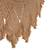 Cotton hammock, 'Romantic Couple' (double) - Handwoven Double Cotton Hammock in Tan from Brazil (image 2d) thumbail