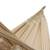 Cotton hammock, 'Tropical Style' (double) - Handwoven Double Cotton Hammock in Ivory from Brazil (image 2b) thumbail