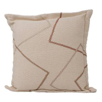 Geometric Cotton Cushion Cover Handwoven in Brazil