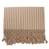 Cotton throw, 'Friendly Stripes' - Handwoven Striped Cotton Throw Blanket from Brazil