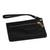 Leather wristlet, 'Dark Sophistication' - Handcrafted Black Leather Wristlet from Brazil (image 2a) thumbail