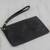 Leather wristlet, 'Dark Sophistication' - Handcrafted Black Leather Wristlet from Brazil (image 2b) thumbail