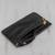 Leather wristlet, 'Dark Sophistication' - Handcrafted Black Leather Wristlet from Brazil (image 2c) thumbail