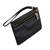 Leather wristlet, 'Dark Sophistication' - Handcrafted Black Leather Wristlet from Brazil (image 2d) thumbail