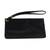Leather wristlet, 'Dark Sophistication' - Handcrafted Black Leather Wristlet from Brazil (image 2e) thumbail