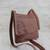 Leather messenger bag, 'Rio Adventure in Chestnut' - Handcrafted Brown Leather Messenger Bag from Brazil (image 2b) thumbail
