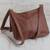 Leather messenger bag, 'Rio Adventure in Chestnut' - Handcrafted Brown Leather Messenger Bag from Brazil (image 2c) thumbail